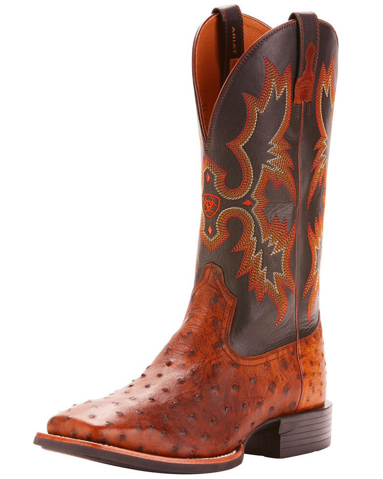7cd0a7feb9a Ariat Men's Full Quill Ostrich Exotic Western Boots - Wide Square Toe
