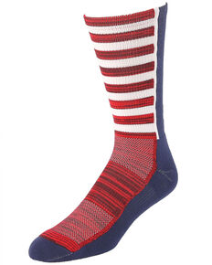 Cinch Patriotic Crew Socks , Multi, hi-res