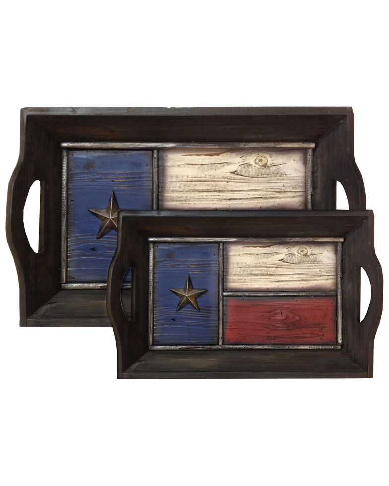 HiEnd Accents Texas Flag Tray Set, Multi, hi-res