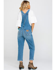 Wrangler Modern Women's Texas Heritage High Rise Denim Overall , Blue, hi-res