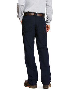 Ariat Men's Rebar M4 Washed Twill Dungaree Work Pants , Black, hi-res