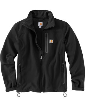 Carhartt Men's Denwood Softshell Jacket, Black, hi-res