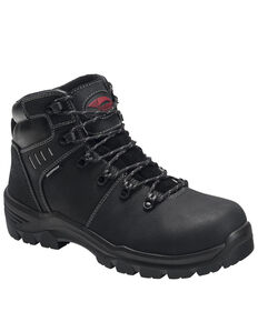 Avenger Men's Black Foundation Work Boots - Composite Toe, Black, hi-res