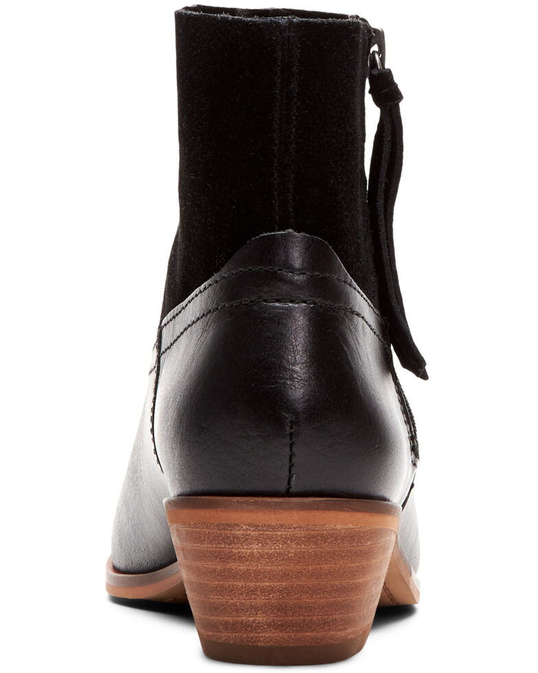 Frye & Co. Women's Black Rubie Side Zip Leather Booties - Round Toe , Black, hi-res