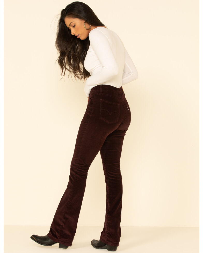 Levi's Women's 725 High-Waisted Bootcut Jeans, Burgundy, hi-res