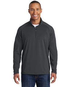 Sport-Tek Men's Charcoal 2X Sport-Wick Stretch Pullover - Tall, Charcoal, hi-res