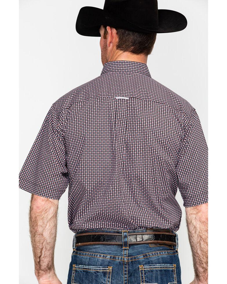 Tuf Cooper Men's Competition Stretch Geo Print Long Sleeve Western Shirt , Black, hi-res