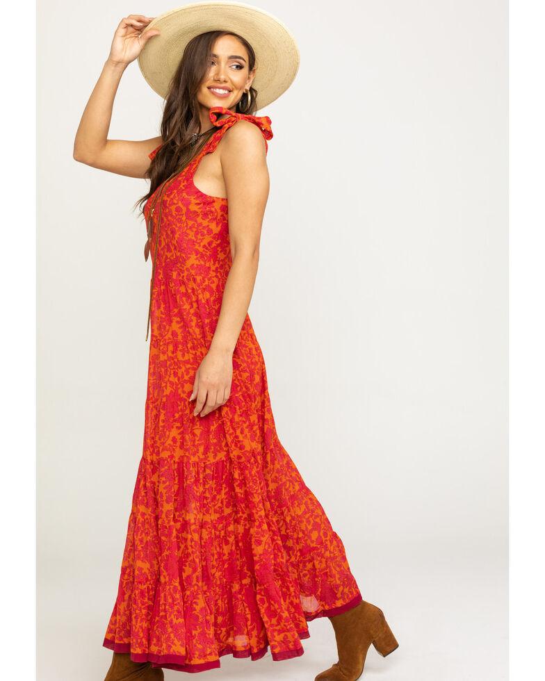 Free People Women's Kikas Midi Dress, Orange, hi-res
