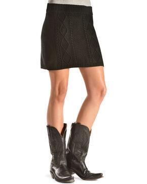 Others Follow Women's Cambridge Knit Skirt, Black, hi-res