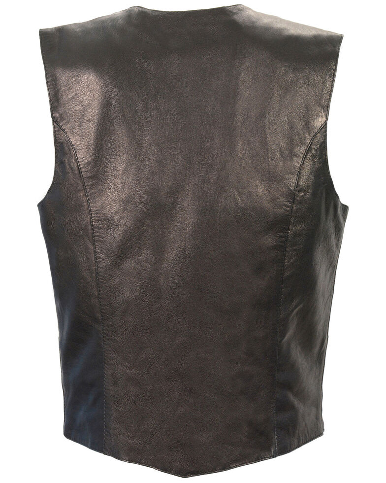Milwaukee Leather Women's Lightweight Classic Four Snap Vest - 3X, Black, hi-res