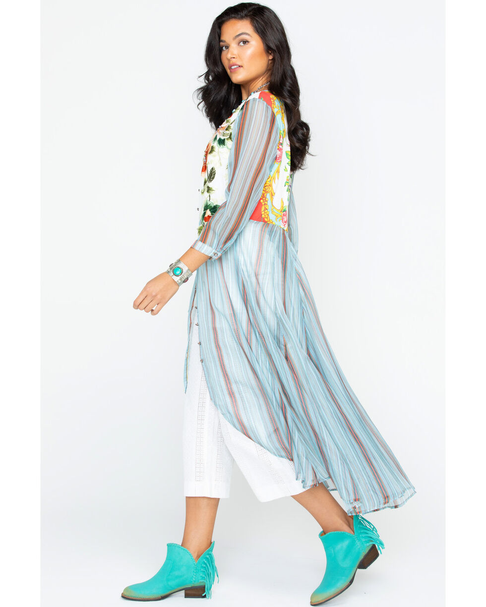 Aratta Women's Teal Top Notch Shirt Dress , Teal, hi-res