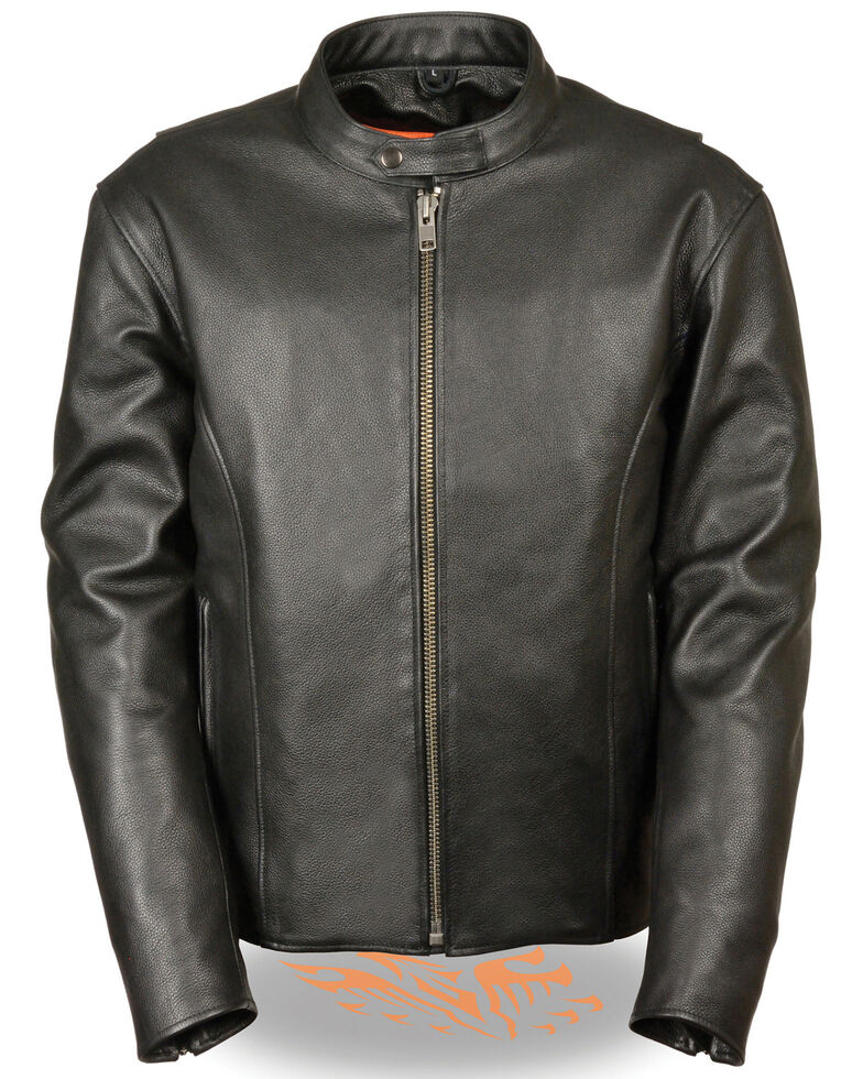 Milwaukee Leather Men's 4X Classic Scooter Jacket , Black, hi-res
