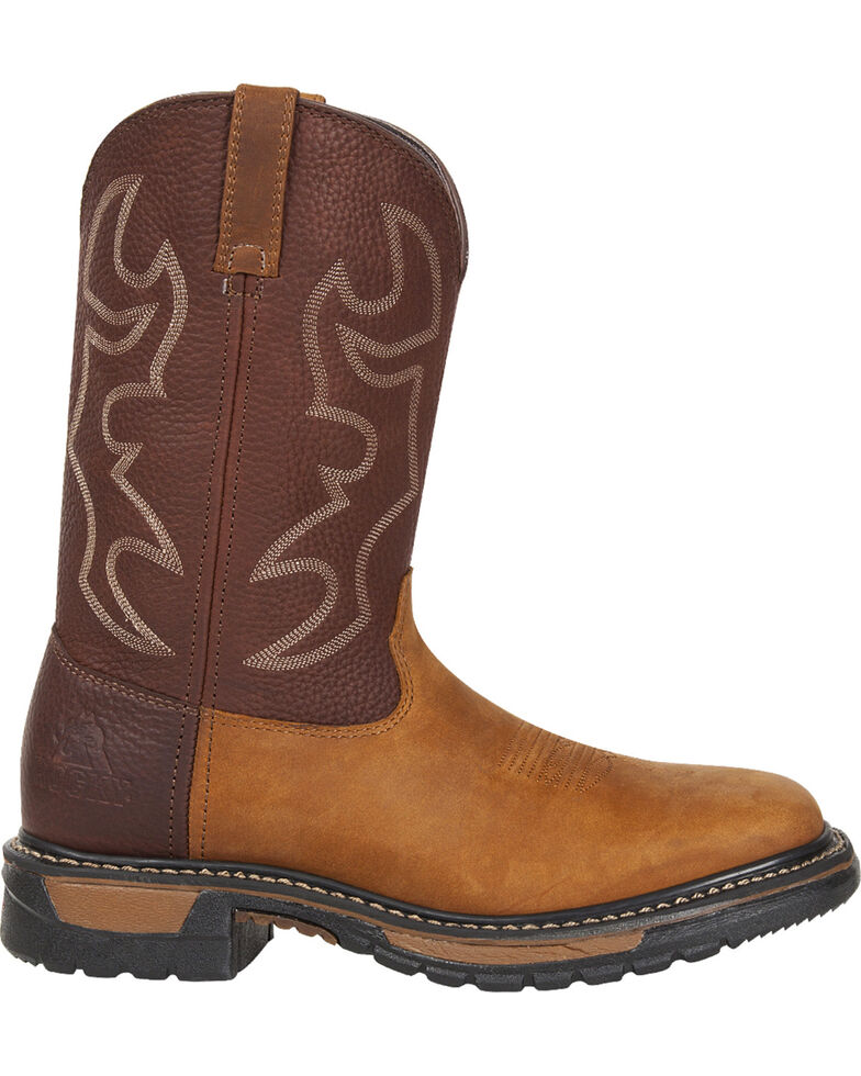 Rocky Men's Original Ride Western Boots - Square Toe, Brown, hi-res
