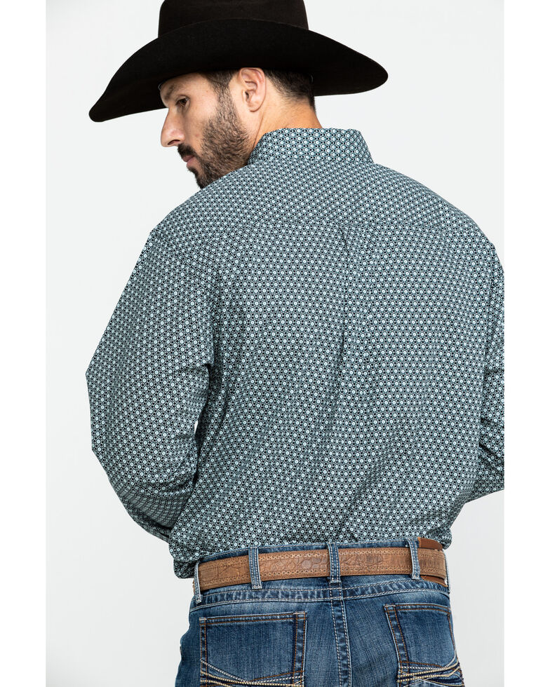 Cinch Men's Circle Geo Print Long Sleeve Western Shirt , Black, hi-res