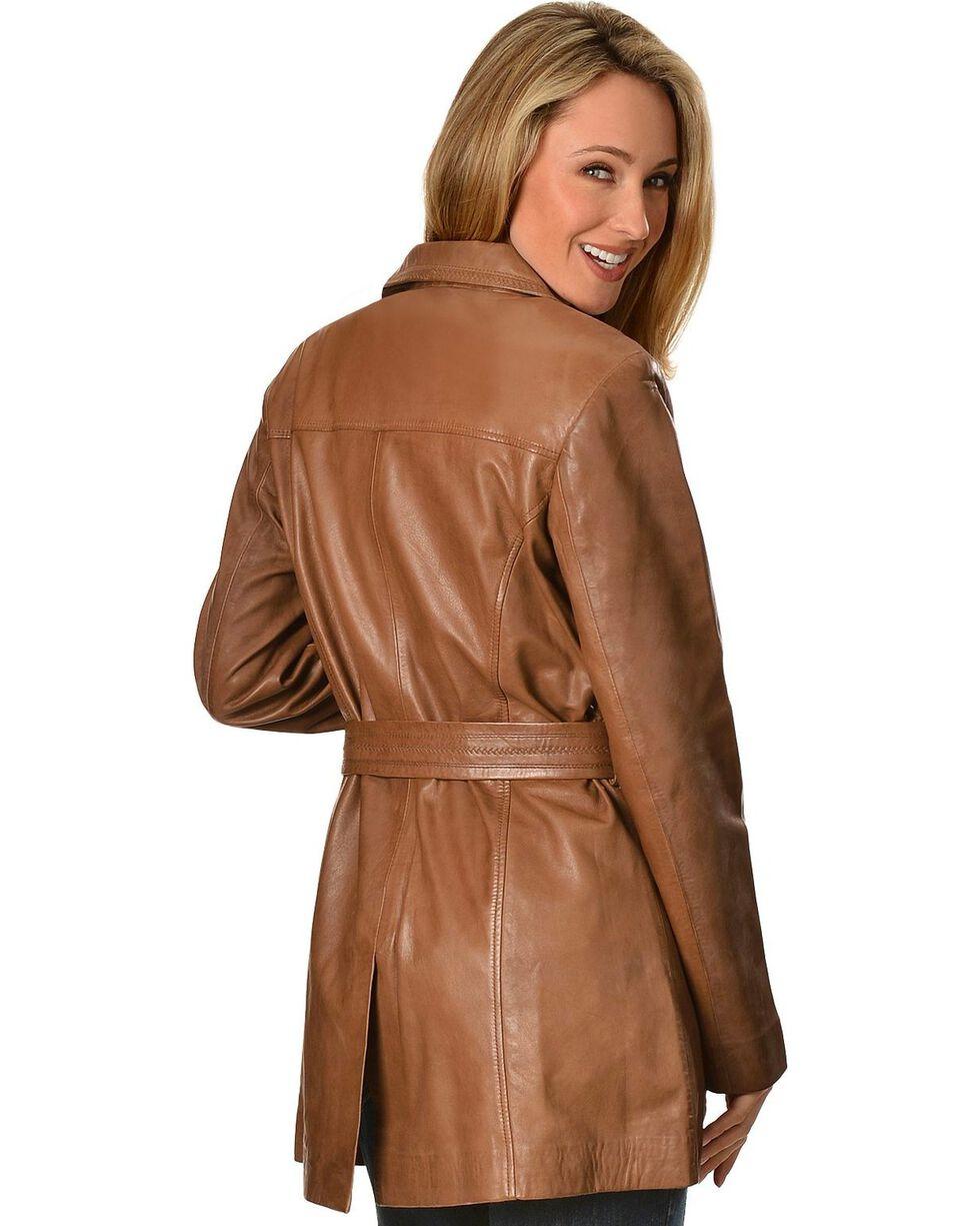 Scully Women's Lamb Knee-Length Coat, Brown, hi-res
