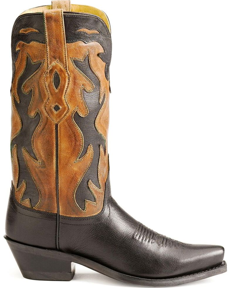 "Jama Women's Fashion Wear 12"" Western Boots, Black, hi-res"