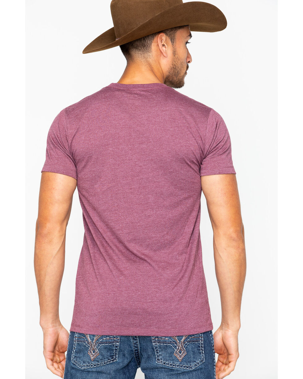 Ariat Men's Ariat Boot Co. Short Sleeve Tee, Burgundy, hi-res