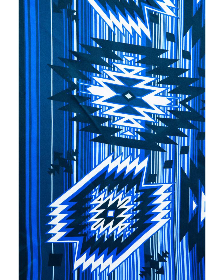 Cody James Men's Silk Blue Aztec Bandana, Blue, hi-res