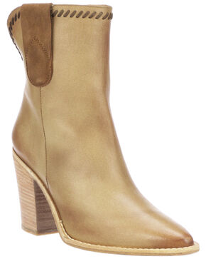 Lucchese Women's Sienna Fashion Booties - Pointed Toe, Tan, hi-res