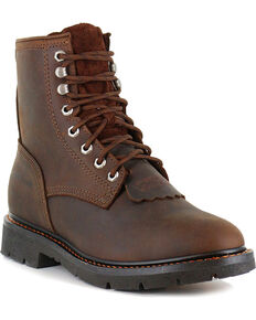 Cody James® Men's Lace-Up Round Toe Kiltie Work Boots, Brown, hi-res