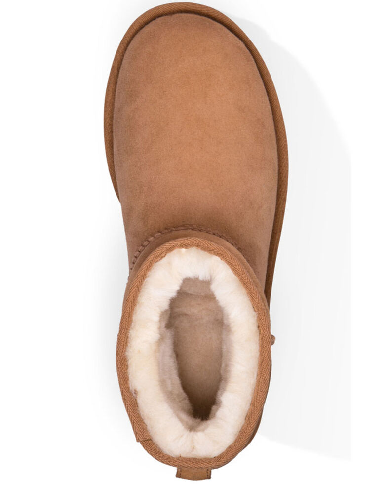 UGG Women's Classic Mini Boots - Round Toe, Chestnut, hi-res