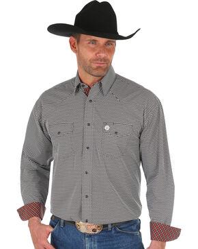 Wrangler George Strait Men's Brown Printed Shirt , Brown, hi-res