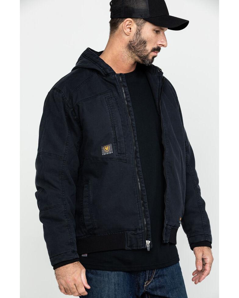 Ariat Men's Black Rebar Washed Dura Canvas Insulated Work Coat - Big & Tall , Black, hi-res