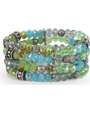 Shyanne® Women's Multi-Layered Beaded Bracelet, Silver, hi-res