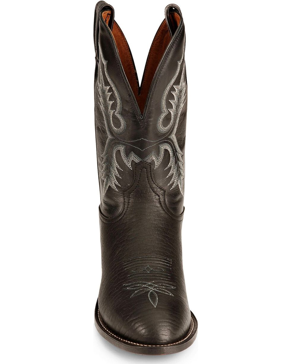 """Tony Lama Men's 11"""" Stockman Boots, Black, hi-res"""