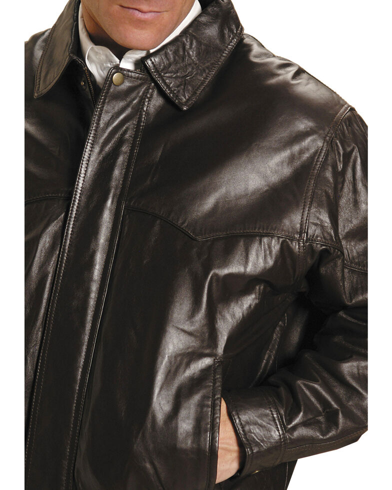 Roper Lamb Nappa Bomber Jacket - Big & Tall, Brown, hi-res