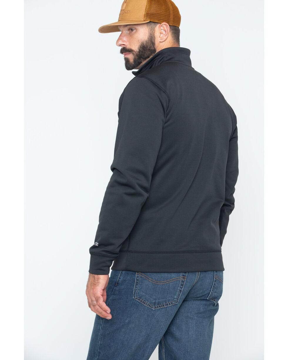 Carhartt Men's Force Extremes Mock-Neck Half-Zip Sweatshirt , Black, hi-res