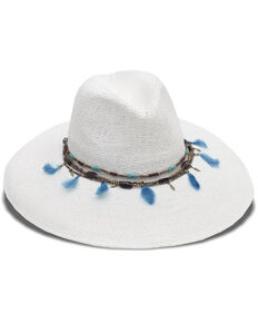 Nikki Beach Women's Dara Toyo Western Straw Hat , White, hi-res