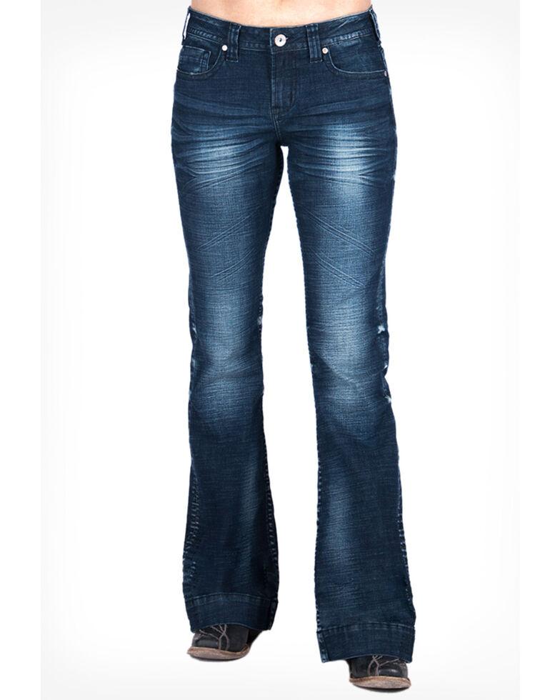 Cowgirl Tuff Women's Sassy Trouser, Blue, hi-res
