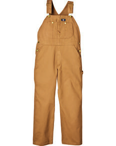Dickies Duck Bib Overalls - Big & Tall, Brown Duck, hi-res