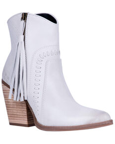 Dingo Women's Dream Big Fashion Booties - Snip Toe, Off White, hi-res
