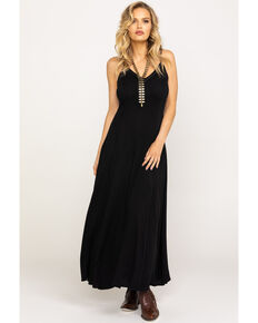 Idyllwind Women's Easy Rider Maxi Dress, Black, hi-res