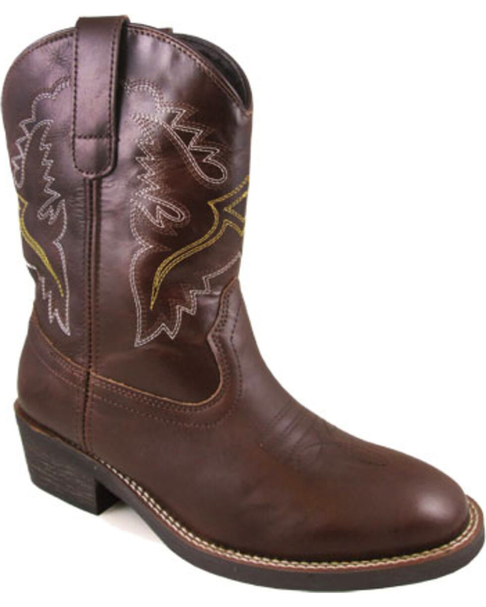 Smoky Mountain Women's Brown Grove Leather Boots - Round Toe , Brown, hi-res