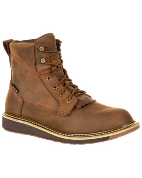 Rocky Men's Cody Waterproof Lacer Western Boots - Round Toe, Brown, hi-res