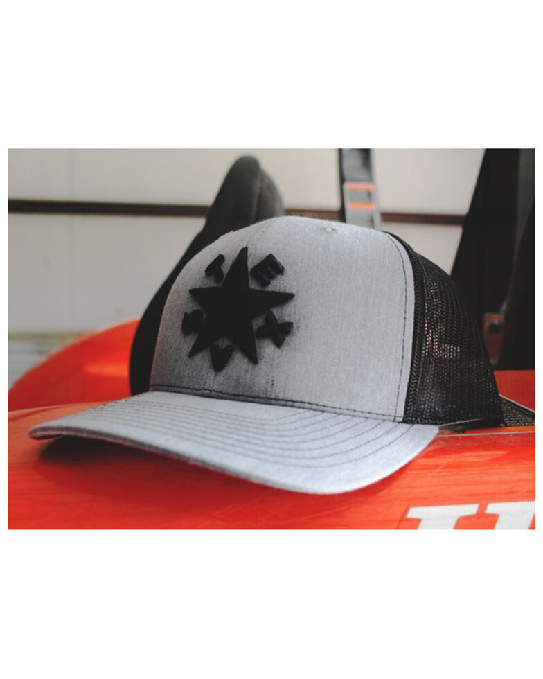 Oil Field Hats Men's Black Dezavala Flag Star Patch Mesh Ball Cap , Black, hi-res
