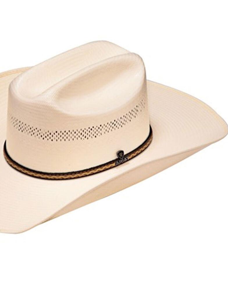 Ariat Men's 10X Straw Cowboy Hat, Natural, hi-res