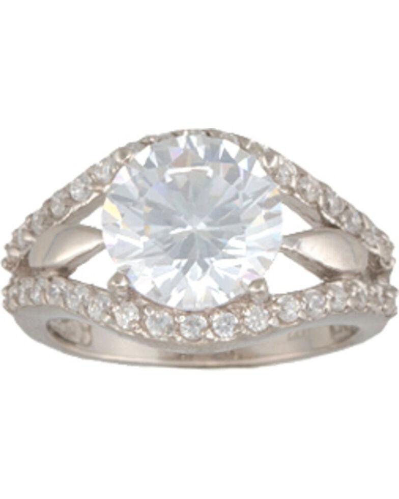 Montana Silversmiths Women's CZ Sterling Silver Ring, Silver, hi-res