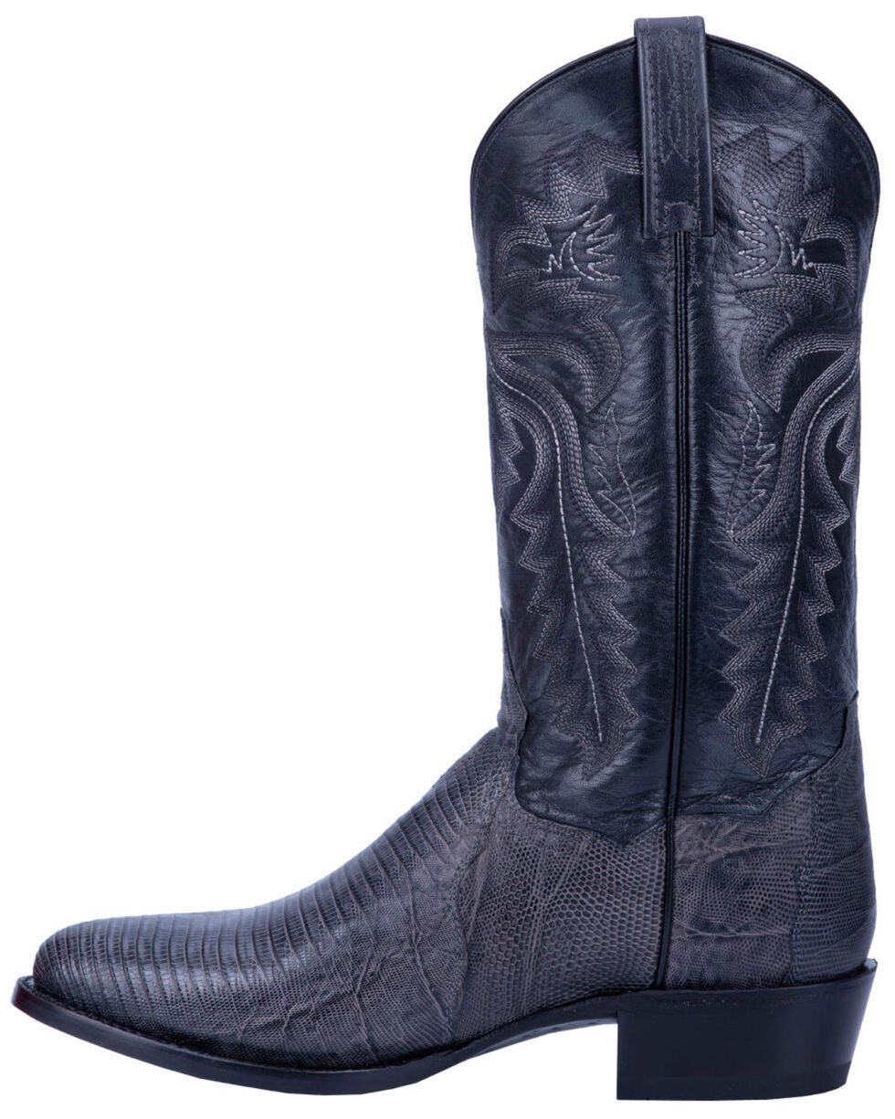 DP3053 Men/'s Winston genuine Lizard skin western Boot by Dan Post Grey.