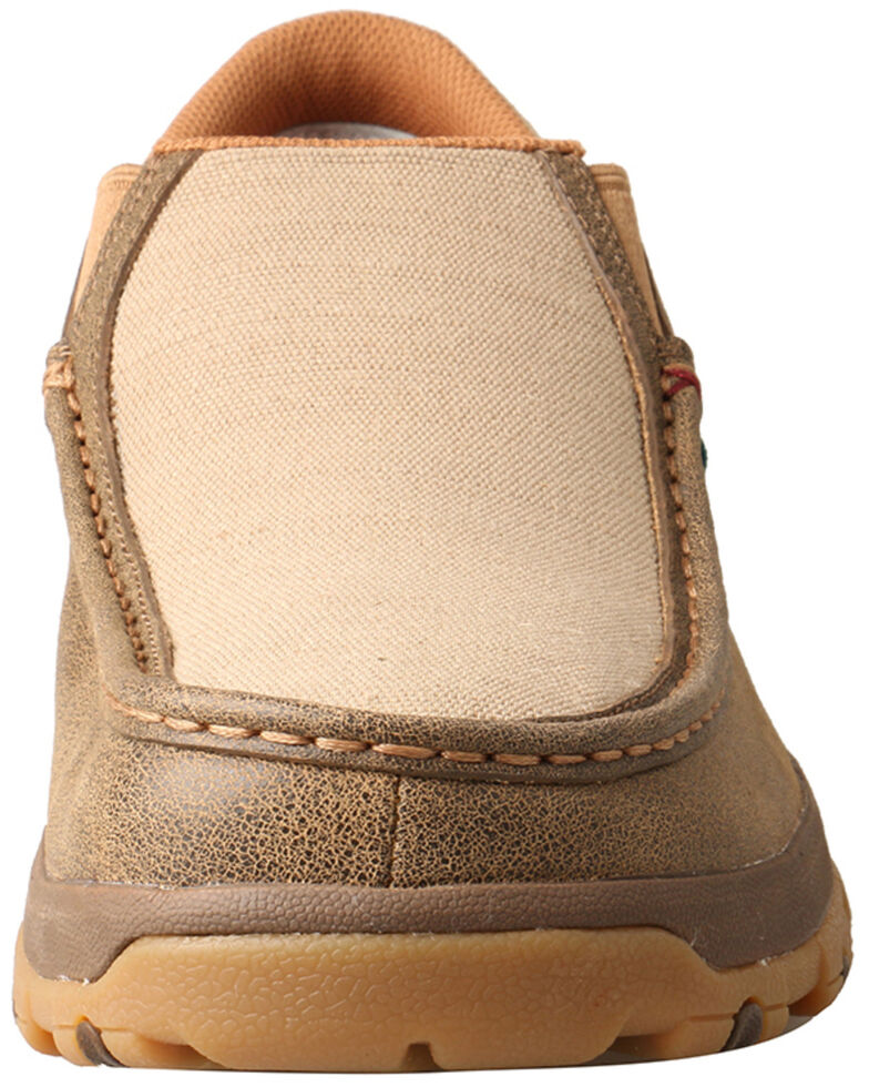 Twisted X Men's CellStretch Driving Shoes - Moc Toe, Tan, hi-res