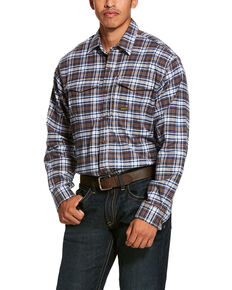Ariat Men's Wildcat Rebar Flannel Durastretch Long Sleeve Work Shirt , Multi, hi-res