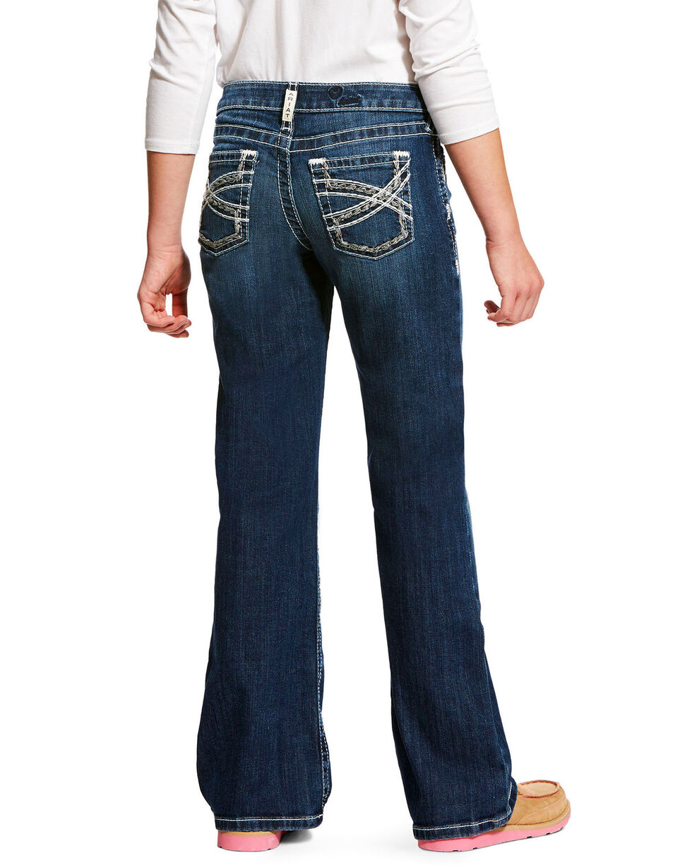 Ariat Girls' Entwined Dresden REAL Boot Jeans , Indigo, hi-res