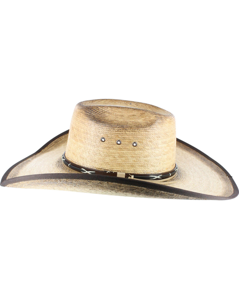 Cody James® Men's Palm Leaf Cowboy Hat, Natural, hi-res
