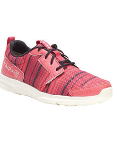 Ariat Girls' Fuse Pink Serape Mesh Shoes, Pink, hi-res
