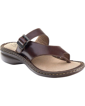 Eastland Women's Brown Townsend Thong Sandals , Brown, hi-res