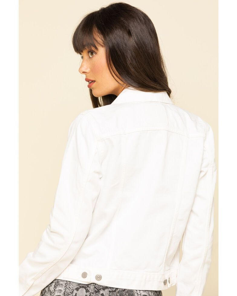 Levi's Women's White Denim Trucker Jacket, White, hi-res