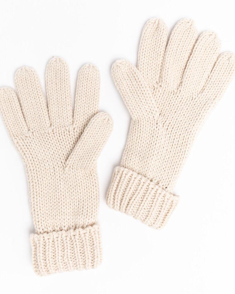 Shyanne Women's Cream Chunky Knit Gloves , Cream, hi-res
